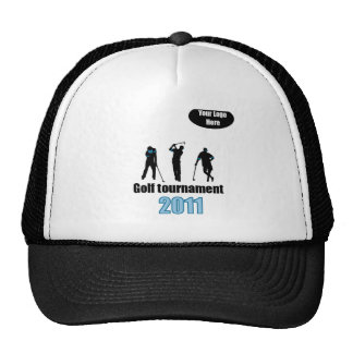 Golf artwork Blue.ai Trucker Hat