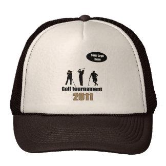 Golf artwork Brown.ai Hat