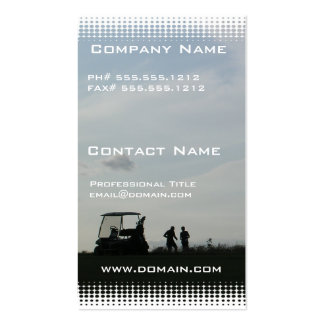 Golf at Dusk Business Card