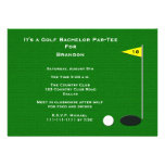 Golf Bachelor Party Invitation -- 18th Golf Hole Invite