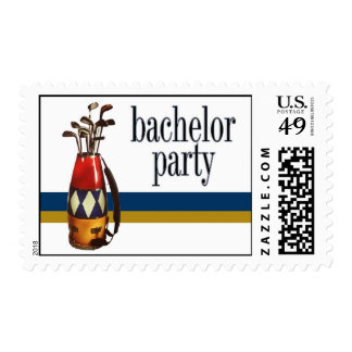 Golf Bachelor Party Stamp