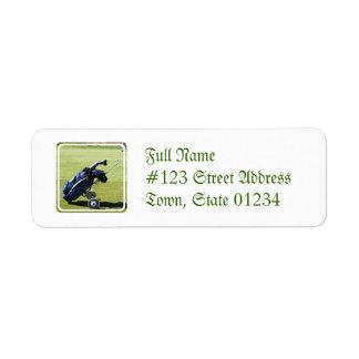 Golf Bag Mailing Label Return Address Label