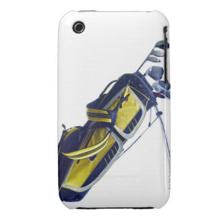 Golf bag with clubs on white background iPhone 3 Case-Mate cases