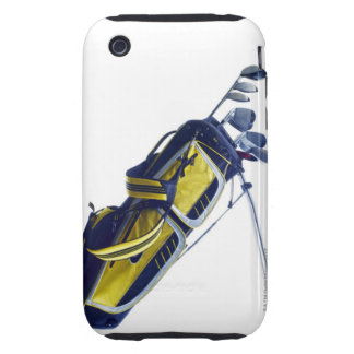 Golf bag with clubs on white background iPhone 3 tough case
