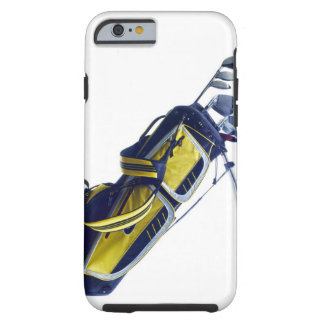Golf bag with clubs on white background tough iPhone 6 case