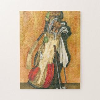 Golf Bag with Glove by Jennifer Goldberger Jigsaw Puzzle