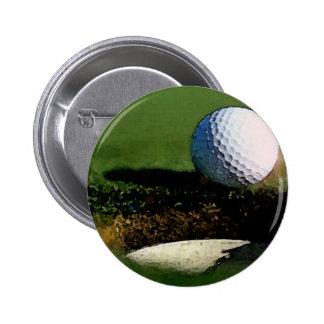 Golf Ball 6 Cm Round Badge