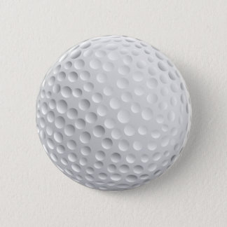 Golf Ball 6 Cm Round Badge