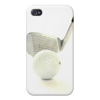 Golf Ball and Club iPhone 4 Case