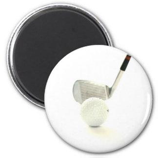 Golf Ball and Club Magnet Refrigerator Magnet