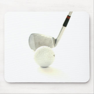 Golf Ball and Club Mouse Pad