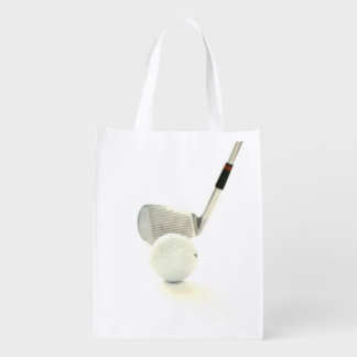 Golf Ball and Club Reusable Grocery Bag