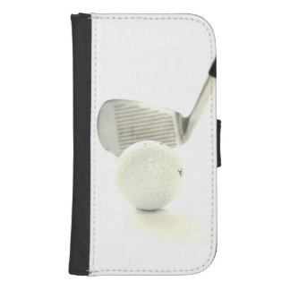Golf Ball and Club Samsung S4 Wallet Case