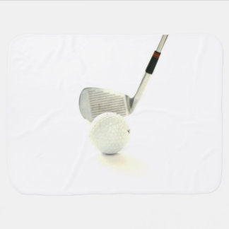 Golf Ball and Club Baby Blankets