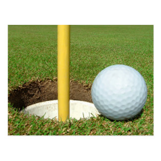 Golf Ball And Cup Postcard