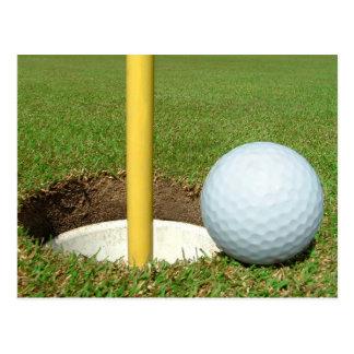 Golf Ball And Cup Postcard