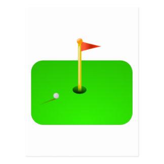 Golf Ball and Golf Flag Postcards