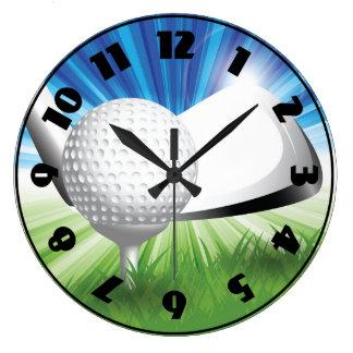 Golf Ball and Tee Clock