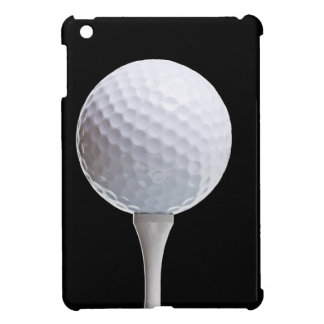 Golf Ball and Tee on Black- Customized iPad Mini Case