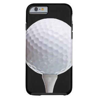 Golf Ball and Tee on Black- Customized Tough iPhone 6 Case