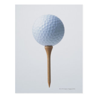 Golf Ball and Tee Postcard