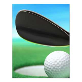 Golf Ball and Wedge Closeup Card
