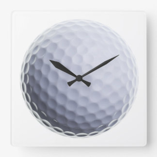 Golf Ball Background Customized Template Clocks