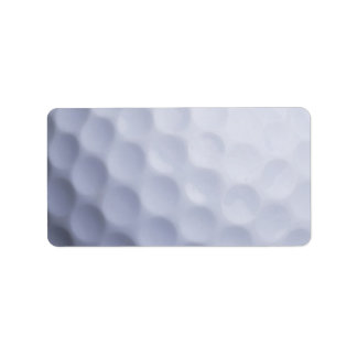 Golf Ball Background Customized Template Label