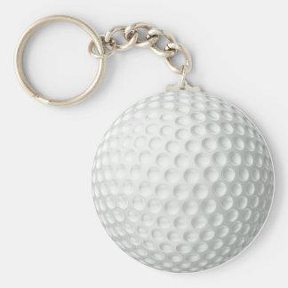 Golf Ball Basic Round Button Key Ring