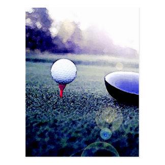 Golf Ball & Bat Postcard
