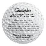 Golf Ball Birthday Party 13 Cm X 13 Cm Square Invitation Card