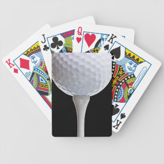 Golf Ball Black Background Golfing Sports Template Bicycle Playing Cards