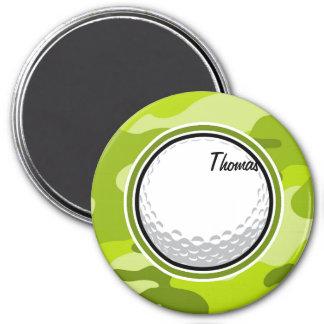 Golf Ball bright green camo camouflage Refrigerator Magnet
