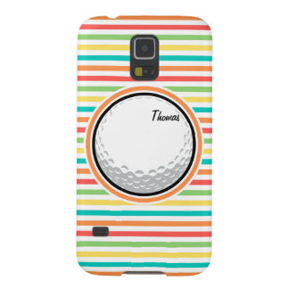 Golf Ball; Bright Rainbow Stripes Galaxy S5 Covers