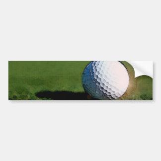 Golf Ball Bumper Sticker