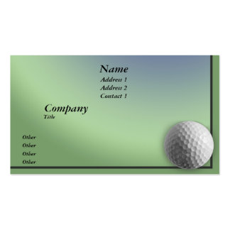 Golf Ball Business Card Templates