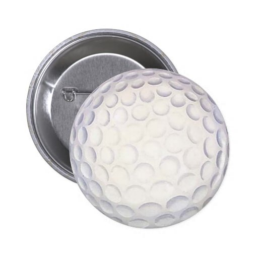Golf Ball Button/Badge