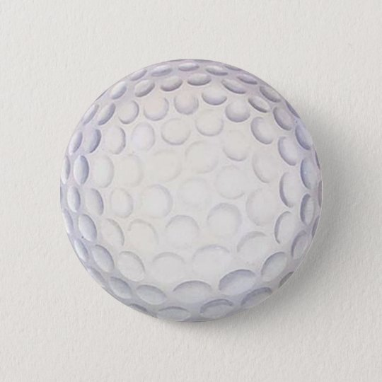 Golf Ball Button/Badge 6 Cm Round Badge