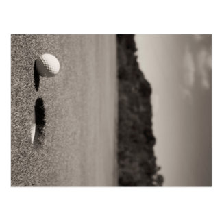 Golf Ball by Hole Post Card