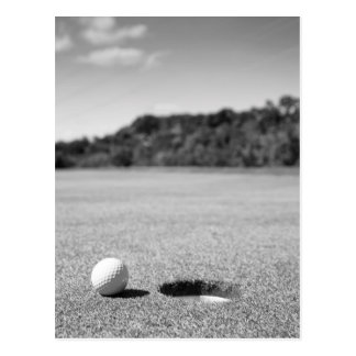 Golf Ball By Hole Postcards