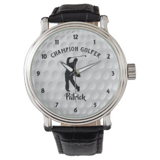 Golf Ball Champion Golfer Personalized Golf Watch