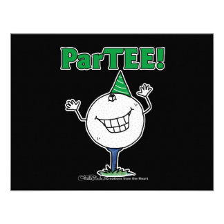 Golf Ball Character ParTEE! Custom Announcements