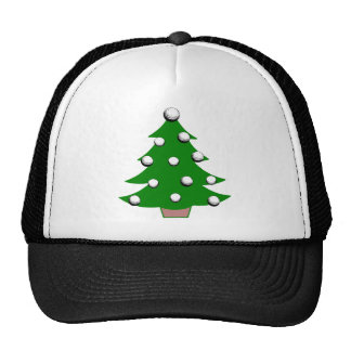 Golf Ball Christmas Tree Mesh Hat