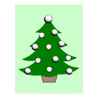 Golf Ball Christmas Tree Post Card