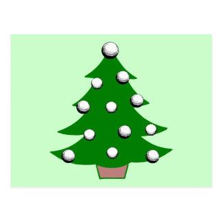 Golf Ball Christmas Tree Postcard