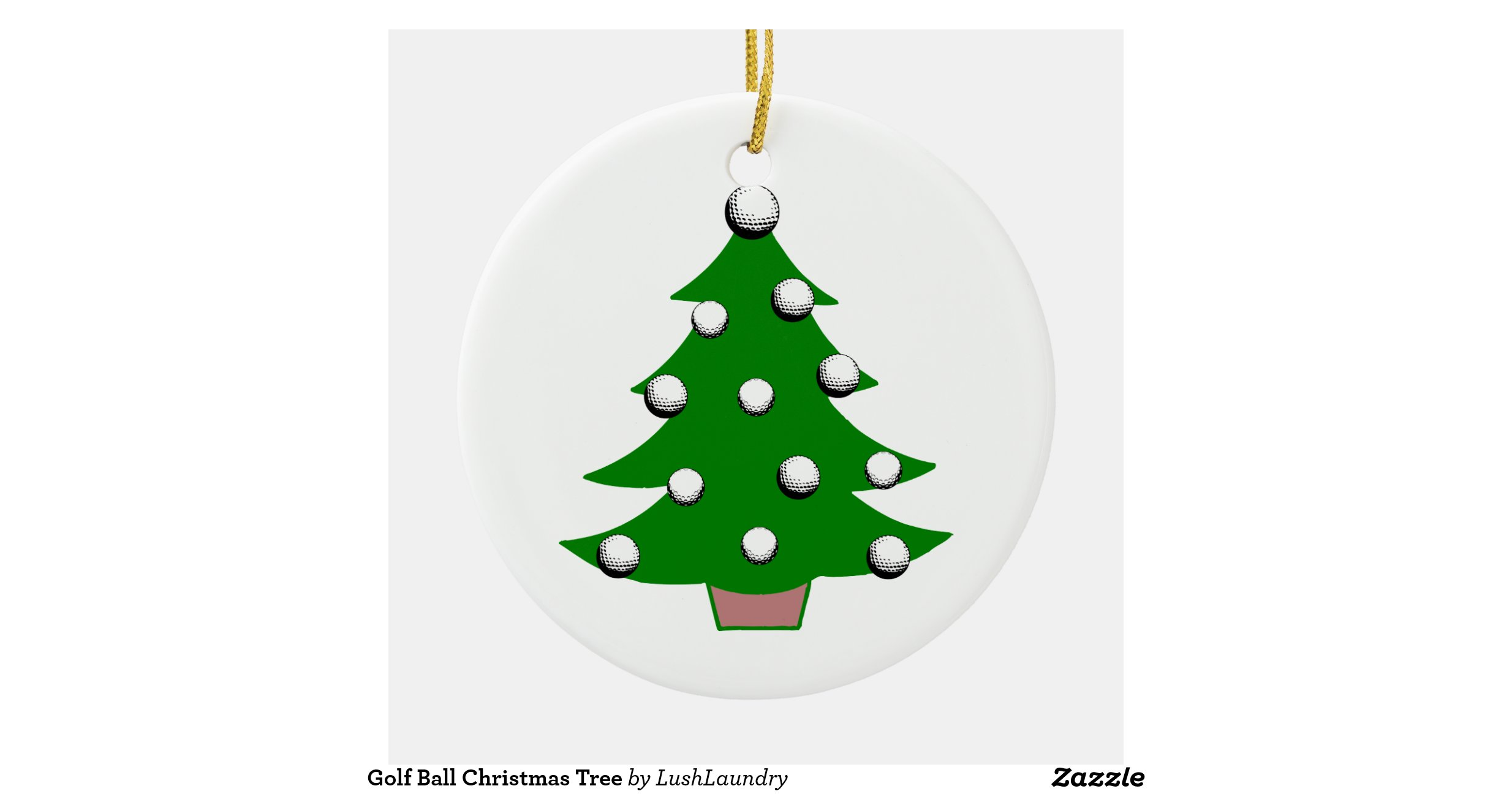 Christmas Tree Manufacturers Uk : Golf ball christmas tree round ceramic decoration zazzle