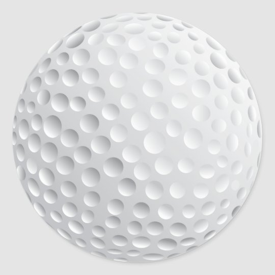 Golf Ball Classic Round Sticker