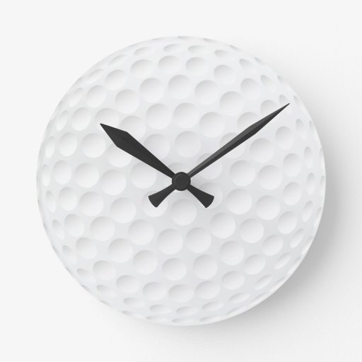 golf ball round wallclocks