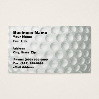 Golf Ball (Closeup) Business Card