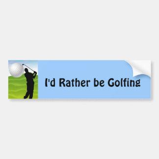 Golf Ball Coming at You Bumper Sticker